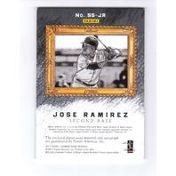 Jose Ramirez 2017 Diamond Kings Sketches Swatches Holo Gold Autograph SSJR 20/20