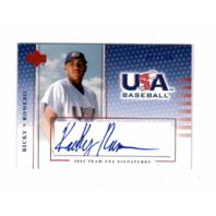 Ricky Romero 2004-05 UD USA Baseball National Team Signatures Blue #36 Auto /250  (x)
