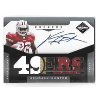 KENDALL HUNTER 2011 Panini Limited Phenoms Rookie Autograph Patch RC auto /299