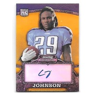 CHRIS JOHNSON 2008 Bowman Sterling Gold Refractor Rookie Autograph RC auto /400