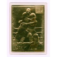2002 Danbury Mint WWE The Rock Dwayne Johnson 22kt Gold Collectors Trading Card