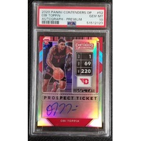Obi Toppin 2020 Contenders Draft Picks Prospect Ticket Silver Autograph PSA 10