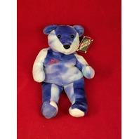 Salvino's Bammers Opening Day Sammy Sosa #21 Blue Tie Dye Beanie Plush Bear