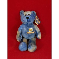 Limited Treasures Shannon Sharpe #84 Tie Dye Blue Beanie Bear Broncos Champs