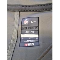 NFL On Field Matthew Stafford #9 Detroit Lions Gray Dri-Fit Jersey Shirt Sz W-XL