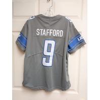 NFL On Field Matthew Stafford #9 Detroit Lions Gray Dri-Fit Jersey Shirt Sz XL