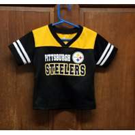 NFL Team Apparel Pittsburgh Steelers Black Jersey Shirt Size 2T Toddler
