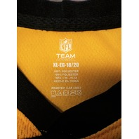 NFL Team Apparel Pittsburgh Steelers Black Jersey Style Shirt Size XL 18/20