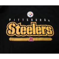 NFL Team Apparel Pittsburgh Steelers Black Graphic T-Shirt Size XL Football