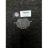NFL Team Apparel Pittsburgh Steelers Black V-Neck Graphic T-Shirt Size XL