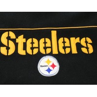 Reebok RBK NFL Pittsburgh Steelers Black Long Sleeve Fleece Shirt Sz XL Football