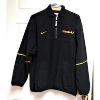 Nike NFL Pro Line Pittsburgh Steelers Black Pullover Fleece Jacket Sz L Football