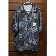Fanatics Pittsburgh Steelers Men's Short Sleeve Button Down Floral Shirt Size XL