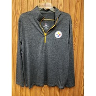 Majestic Cool Base Pittsburgh Steelers 1/4 Zip Long Sleeve Pullover Sz M