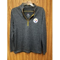 Majestic Cool Base Pittsburgh Steelers 1/4 Zip Long Sleeve Pullover Sz S