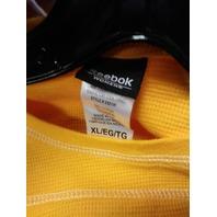 Reebok Women's Pittsburgh Steelers Yellow L/S Waffle Shirt Size XL Football NFL