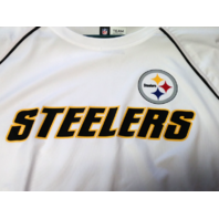 NFL Team Apparel TX3 Cool Pittsburgh Steelers White Athletic Shirt Size XL NWT