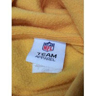 NFL Team Apparel Yellow Pittsburgh Steelers Pullover Hoodie Size L Football