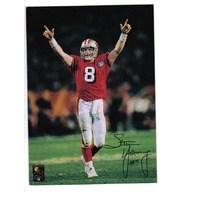 1995 Bernie Kosar Greeting Card Steve Young San Francisco 49ers Football NFL NOS