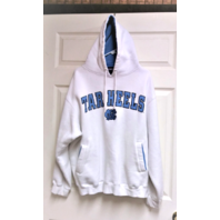 Champs Sports White North Carolina Tar Heels Pullover Hoodie Jacket Sz XL NCAA