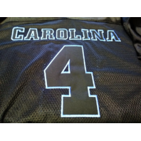 Foot Locker UNC North Carolina Tar Heels Black Mesh #4 Jersey Shirt Size L NCAA