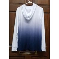 Colosseum North Carolina Tar Heels Hooded Long Sleeve Shirt Size L NCAA