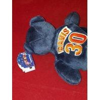 Limited Treasures Terrell Davis #30 Blue Beanie Plush Bear #17397 Broncos