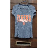 Campus Lifestyle Blue Striped Detroit Tigers Activewear T-Shirt Women's Size S