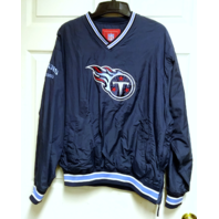 NFL Tennessee Titans Navy Blue Pullover Windbreaker Jacket Size L Football