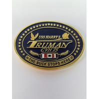 "USS Harry S Truman CVN-75 The Buck Stops Here 2"" Oval Challenge Coin"