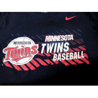 Navy Blue Minnesota Twins Athletic Cut Graphic T-Shirt Sz M Medium MLB Baseball