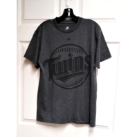 Majestic Charcoal Gray Minnesota Twins Joe Mauer T-Shirt Size M MLB Baseball