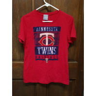 MLB Genuine Merchandise Red Minnesota Twins Graphic T-Shirt Women's Size XL NWT