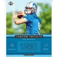 2005 Upper Deck Signature Portraits SP-51 Dan Orlovsky Detroit Lions Auto Card