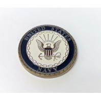 "US United States Navy ""Proudly Served"" Engravable Challenge Coin"