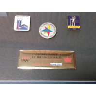 Aminco 2001 Limited Edition Framed Pin Set US Olympic Games Of The United States