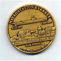 "USS Abraham Lincoln CVN-72 Naval Station Everett 2"" Challenge Coin"