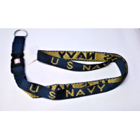 Vanguard NAVY KEY LANYARD - BLUE WITH US NAVY IN GOLD LETTERS
