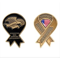 Vanguard COIN: YELLOW RIBBON SUPPORT OUR TROOPS 2-1/4""