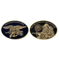 Vanguard COIN: NAVY SEAL WITH TRIDENT OVAL 2""