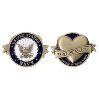 Vanguard COIN: US NAVY I LOVE MY SAILOR 2""