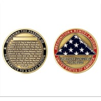 "Vanguard COIN: USA PRESENTING THE FLAG 2"" Service Member Veteran"