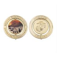 "Vanguard MARINE CORPS SPINNER COIN: 2"" MARINE CORPS 29 PALMS ITX LOGO"