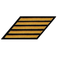 Vanguard NAVY ENLISTED HASH MARKS: SEAWORTHY GOLD ON SERGE: SET OF 5