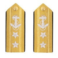 Vanguard NAVY SHOULDER BOARD: TWO-STAR LINE REAR ADMIRAL MALE (Pair)