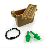 Vanguard EAR PLUGS: PLUGS WITH CHAIN AND OCP CASE - SMALL SIZE