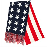 Vanguard US FLAG KNIT SCARF: RED-WHITE-BLUE (STARS & STRIPES)