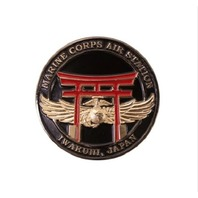 "MARINE CORPS MAGNET 2"" COIN: MARINE CORPS AIR STATION IWAKUNI JAPAN"