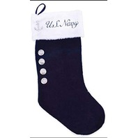 Vanguard USN US Navy Christmas Stocking Uniform Dress Blue Velvet Stocking