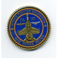 "US Navy Strike Fighter Squadron 137 VFA-137 ""Kestrels"" Challenge Coin"
